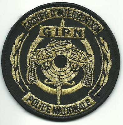 FRANKREICH POLICE NATIONALE GIPN Groupe Intervention GOLD BAC SWAT Polizei Patch