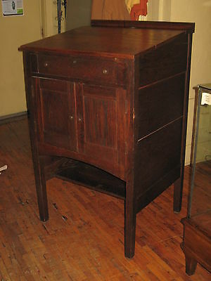Mission Oak Tall Standing/Writing Desk Slant Top Arts & Crafts 1910's-20's
