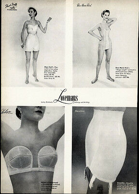 LINGERIE and FASHIONS Two Sided Ad 1952 - from LOVEMANS Chattanooga Tennessee