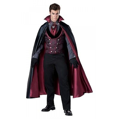 Dracula Costume Adult Victorian Vampire Halloween Fancy Dress