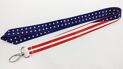 Usa Stars & Stripes Lanyard/keychain, 4Th Of July, Independence Day, Free Ship