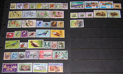 Uganda modern collection 50 diff used stamps
