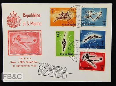 1963 Pre-Tokyo Olympics First Day Cover - Republic San Marino
