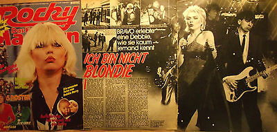 3 german clipping BLONDIE NOT SHIRTLESS LIVE PUNK ROCK BOY BAND BOYS TEEN 1978