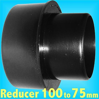 Reducer 100mm to 75mm for Dust Extraction Hose Charnwood SIP Record extractor