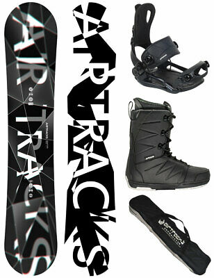 AIRTRACKS Snowboard Set Wild Rocker+Bindung Savage+Boots Strong+Bag 156 163 165