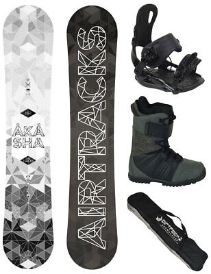 AIRTRACKS Snowboard Set Skull Rocker+Bindung+Boots+Bag+Pad / 150 153 155 158 cm