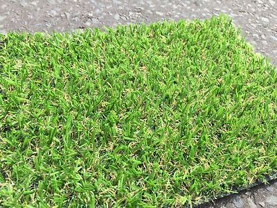 Artificial Grass Mat 15mm Thick Greengrocers Fake turf Astro Lawn - 6ft x 3ft