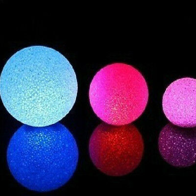 Changing 7 Colors Crystal Ball LED Night Light Decoration Candle Lamp Nightlight