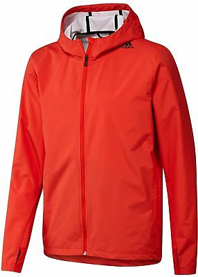Adidas Clima Refresh Transformer Mens Wind Rain Proof Training Jacket - Red