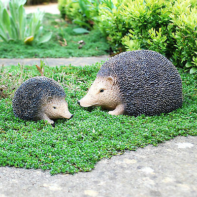 Life-like Hedgehog Garden Animal Ornaments - Small or Large Available