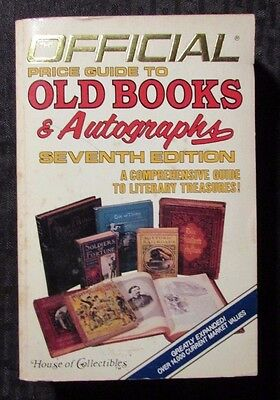 1986 Official Price Guide OLD BOOKS & AUTOGRAPHS 7th Ed. Paperback FN