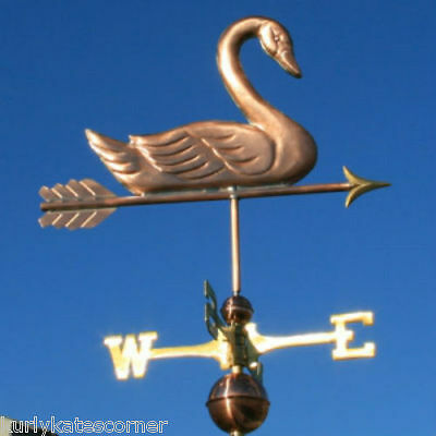 Sweet Copper Swan Weathervane  #163 Made In Usa