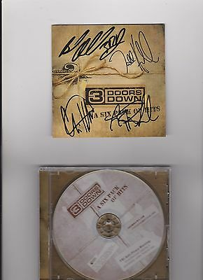 3 Doors Down Autographed/Signed CD Booklet W/CD
