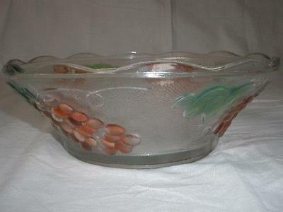 Fabulous Colored Glass Patterned Bowl
