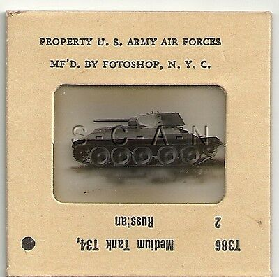 WWII US Recognition 35mm Slide Negative- Soviet Union- Russian T-34 Tank- #2