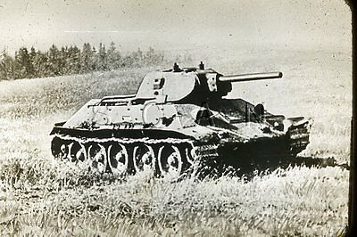WWII US Recognition 35mm Slide Negative- Soviet Union- Russian T-34 Tank- #1