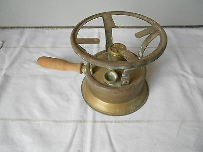 Antique French kitchen BRASS OIL STOVE ,STAMPED