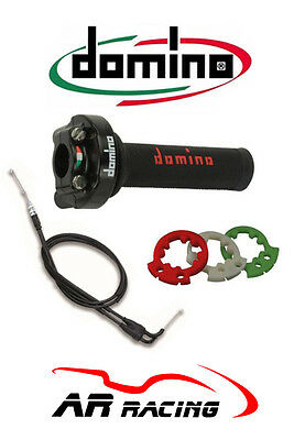 Domino XM2 Quick Action Throttle + Grips + Universal Cables to fit Suzuki Bikes