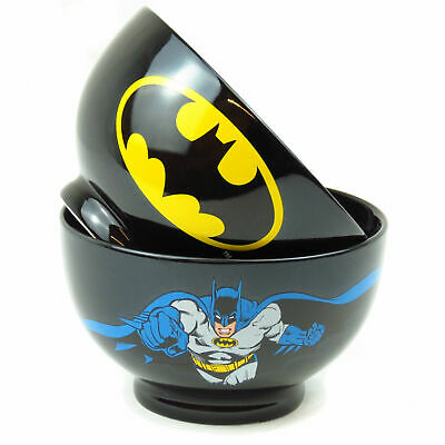 One Batman Dark Knight Stoneware Bowl Gift Ceramic Cereal Dish Official Dc Retro