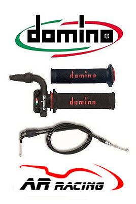 Domino KRR 03 Quick Action Throttle + Cables + Grips for Race / Track Day Bikes