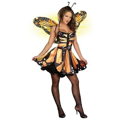 Monarch Butterfly Costume Adult Fairy Halloween Fancy Dress
