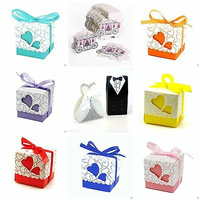Wedding Party Favour Boxes Candy Sweet Boxes Gift Favor MANY COLOURS & DESIGNS