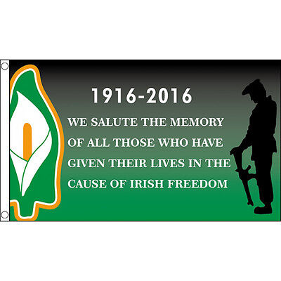 Easter Rising Irish Freedom 1916 - 2016 Flag - 5x3' - Republican Rebel Centenary