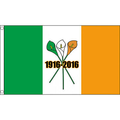 Easter Lily Ireland 1916 - 2016 Flag - 5x3' - Irish Republican Rebel Rising