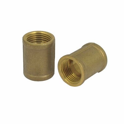 1/2BSP Female Thread Brass Water Pipe Coupling Fitting Connector 2pcs