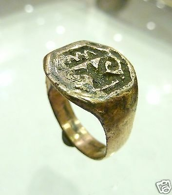 Post Medieval bronze repolished ring (b630)