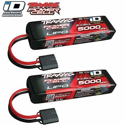 Traxxas 2872X 3S 11.1V 5000 25C LiPo Battery w/ iD Connector [ 2 Pack Combo ]