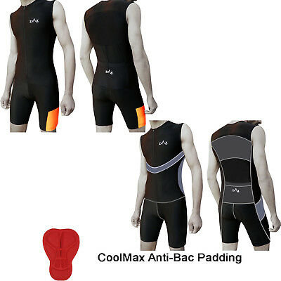 Mens Tri Suit / Triathlon Suit Padded Swimming Cycling Running Yoga Skin Suit