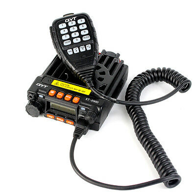 DE Mobile Vehicle Radio Mini 8900 Dual Band VHF/UHF With Handheld Mic 25W+Track