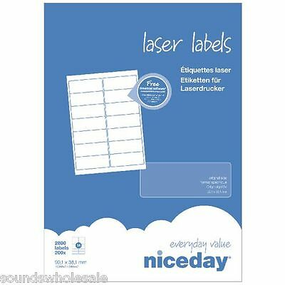 Niceday - All Sizes Laser / Inkjet Printer Self Adhesive Sticky Labels +Free Del
