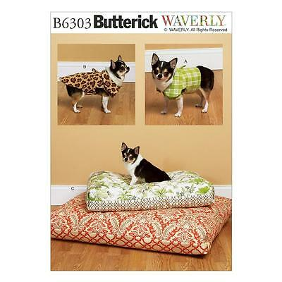 Butterick Sewing Pattern Dog Vest Dog  Coat & Bed In 2 Sizes B6303