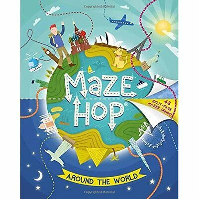 Maze Hop: Around the World - Paperback NEW Anna Brett (Aut 2015-10-08