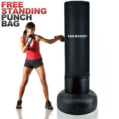 Heavy Duty 6.39ft Free Standing Punch Bag Boxing 195cm Martial Arts Gym Training