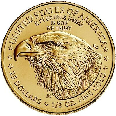2019 1/2 oz Gold American Eagle $25 Coin Brilliant Uncirculated