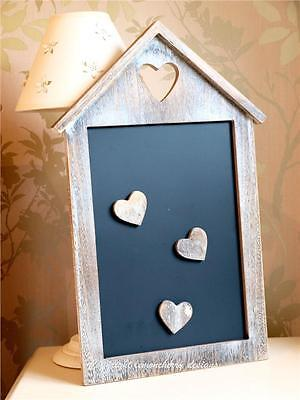 Vintage Shabby Chic Love Heart Magnetic Memo Chalk Notice Black Board & Magnets