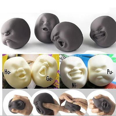 Anti-stress Funny Sphere TRP Stress Pressure Reliever Human Face Vent Ball Toys