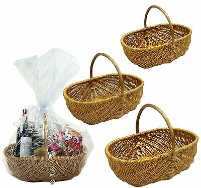 SALE Honey Full Wicker Shopping Vegetable Garden Basket Trug in 3 Sizes SALE