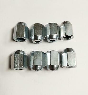 "8x Female Brake Union Nuts Imperial Steel Pipe Tubing 3/8""Unf x 24Tpi Joiner"