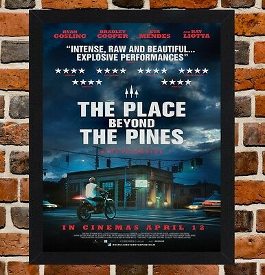 Framed The Place Beyond The Pines Movie Poster A4/A3 Size In Black/White Frame