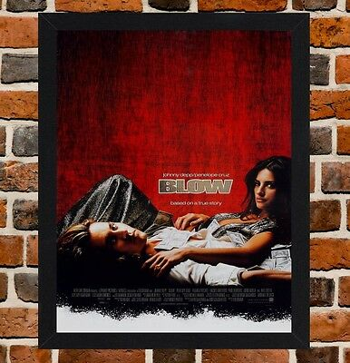 Framed Blow Movie Poster A4 / A3 Size In Black / White Frame