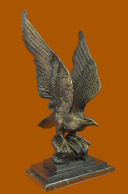 Limited Numbered Collector Edition Wildlife American Bald Eagle Bronze Sculpture