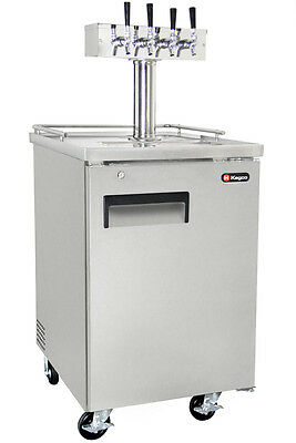 Kegco 4 Tap Commercial Beer Keg Dispenser Stainless Kegerator - NO DISPENSE KIT