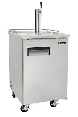 Kegco 1 Keg Commercial Grade Kegerator with Sankey Direct Draw Kit - Stainless