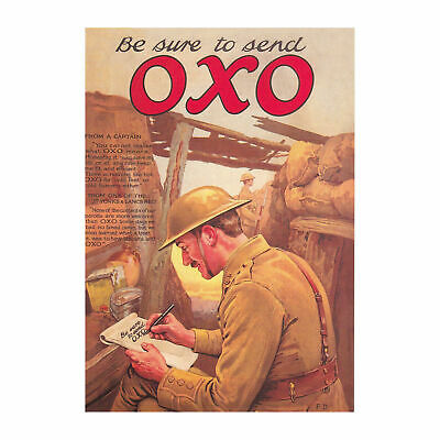 New Be Sure To Send Oxo Retro Postcard Vintage Image Opie War Wwi Soldier Army