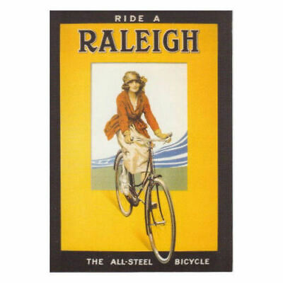 New Ride A Raleigh All Steel Bicycle Retro Postcard Official Vintage Image Opie